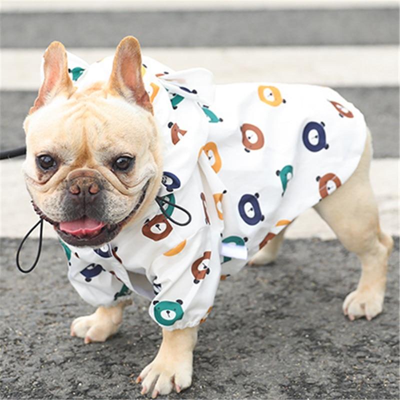 Дождевик для собак, дождевик для мопса, Французская модель, водонепроницаемая одежда для собаки, дождевик для пуделя, Бишон, шнаузер, уэллий...