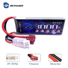 Wltoys 144001 Rc Car Upgraded Skymaker 7.4v 3000mah T Plug Battery For 1/14 RC Car Boat 2s 3000mAh 1