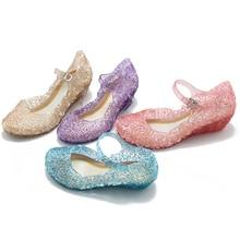 فتاة صندل الأطفال الأميرة أحذية إلسا سندريلا حسناء صوفيا رابونزيل مساء الرقص حذاء الصيف فستان بتصميم حالم حتى حفلة التموين
