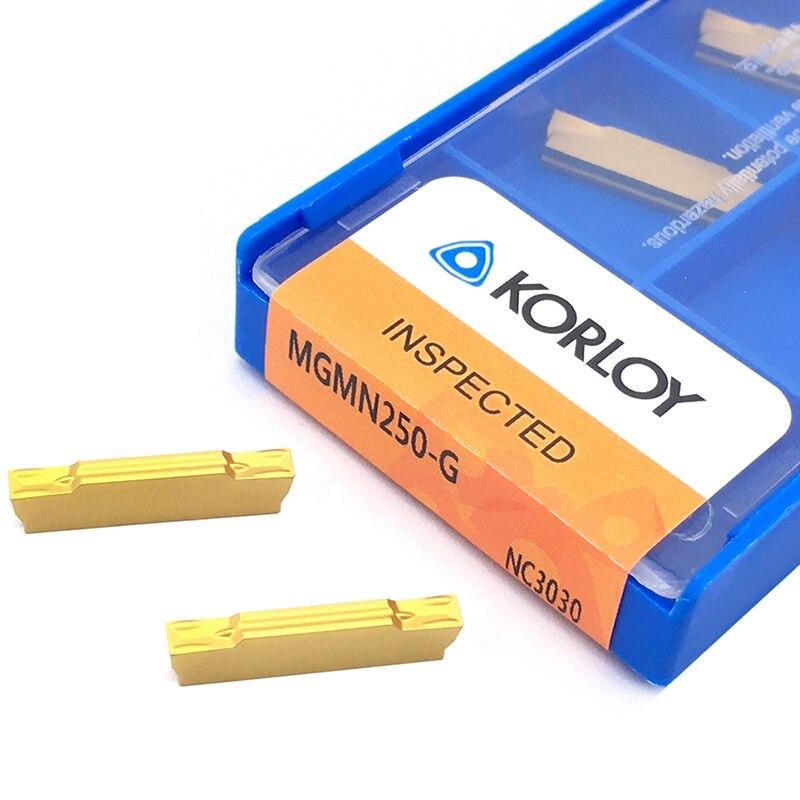 10 pçs mgmn250 g nc3030 2.5mm alta qualidade carboneto inserções grooving ferramenta de torneamento mgmn 250 lâminas cnc torno cortador ferramentas para aço