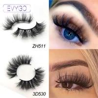evygo false eyelashes natural long 22mm 20mm 3d 5d real mink handmade lightweight comfortable