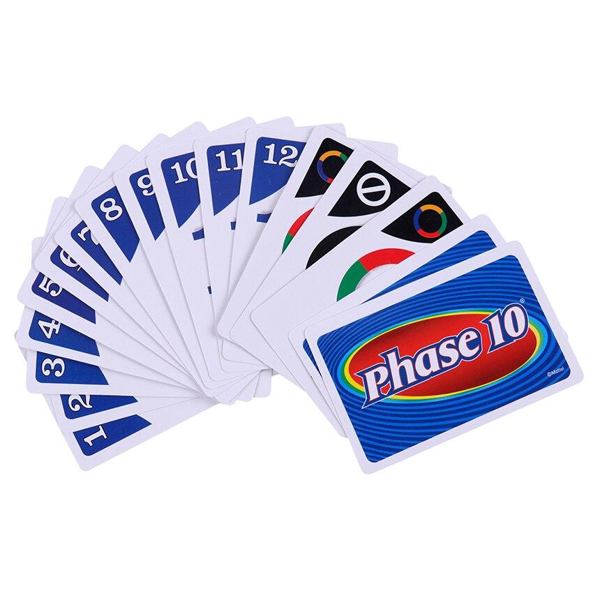 1 коробка вызов карты фаза 10 карточная игра Досуг и развлечения вечерние игральные карты вызов игрушки