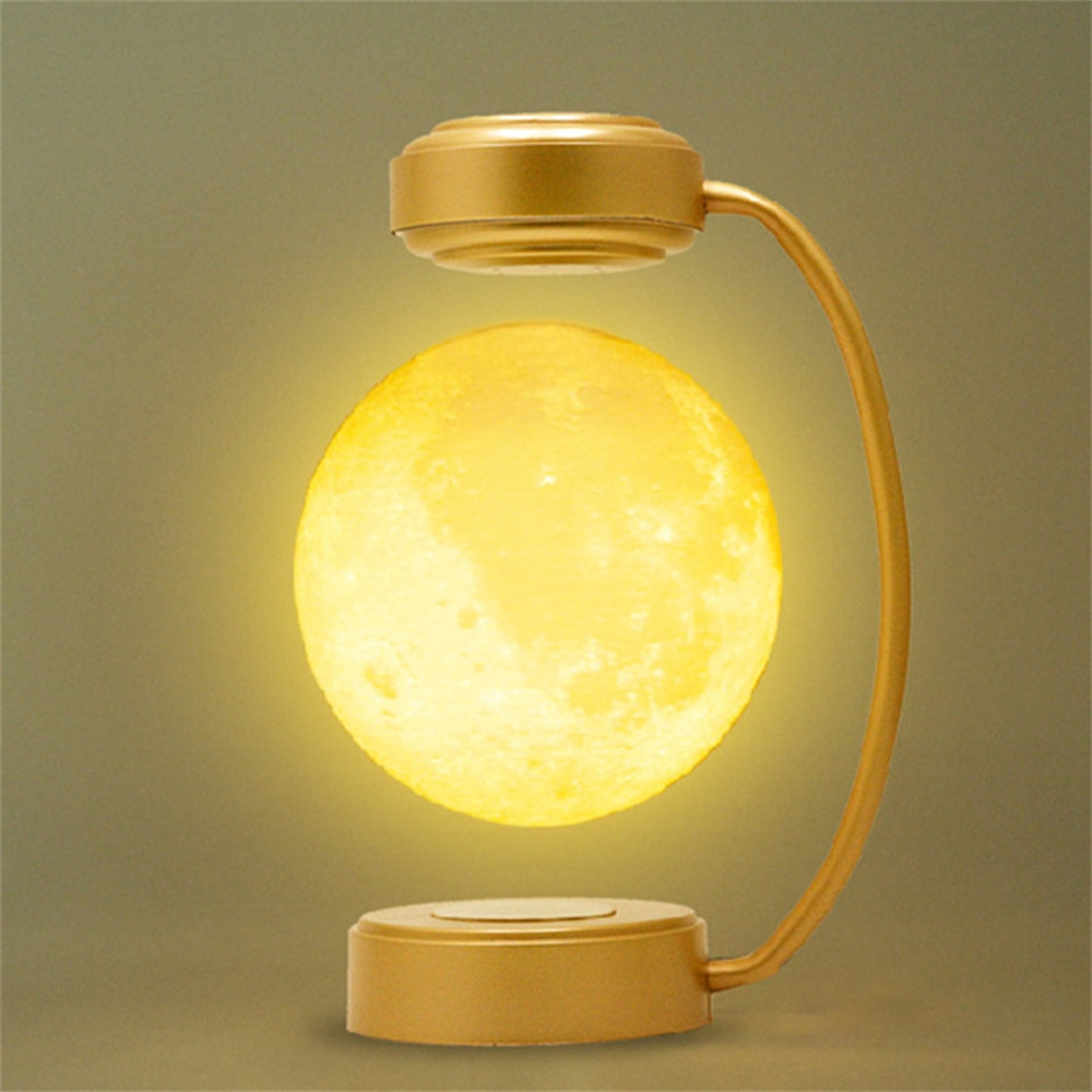 Moon LED Night Light Magnetic Levitation Light 3D Moon Floating Lamp Levitating Light Bulb Novelty Lighting Bedroom Decoration enlarge