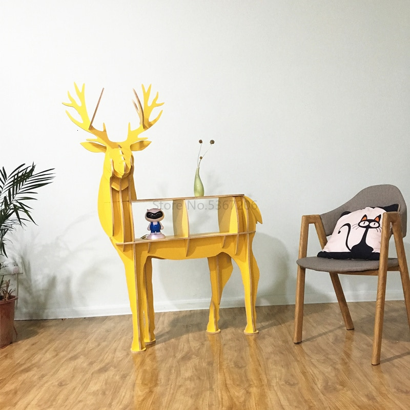 Deer Bookshelf Elk Net Red Home Furnishings Nordic Deer Side Several Creative Living Room Landing Shelf Decoration Model Room