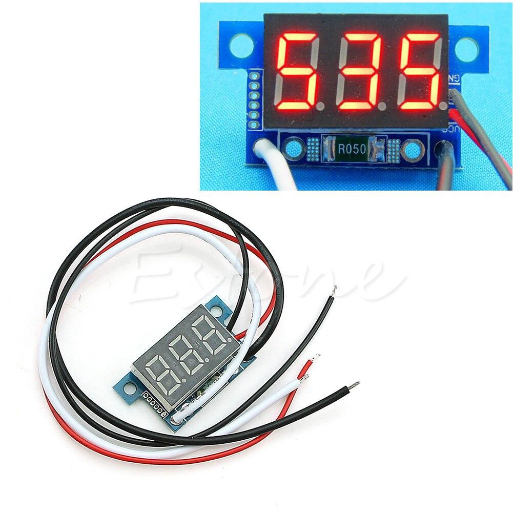Мини светодиодный 0-999mA постоянного тока 4-30 в цифровой Панель Амперметр Amp Амперметр переменного тока с проводом, Новинка