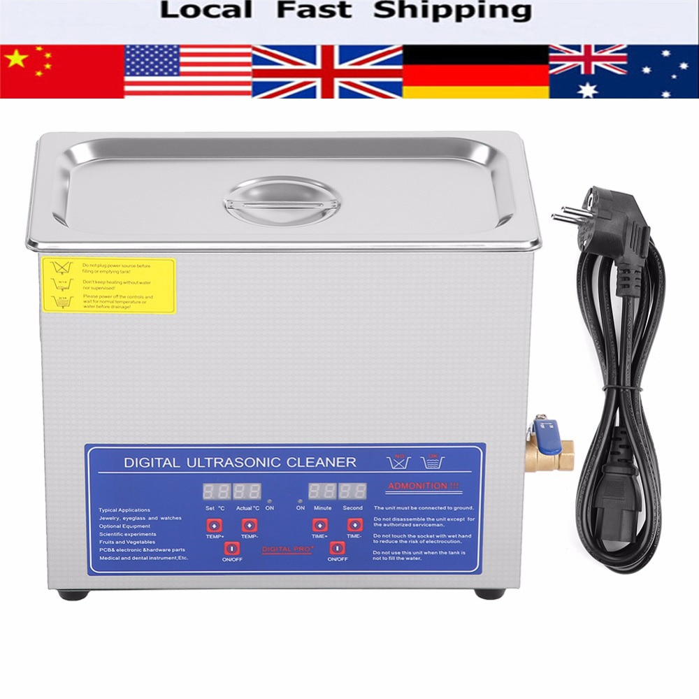 1.3/2/3/6/10/15/22/30L Digital Ultrasonic Cleaner Heated Timer Stainless Steel Ultra Sonic Cleaning