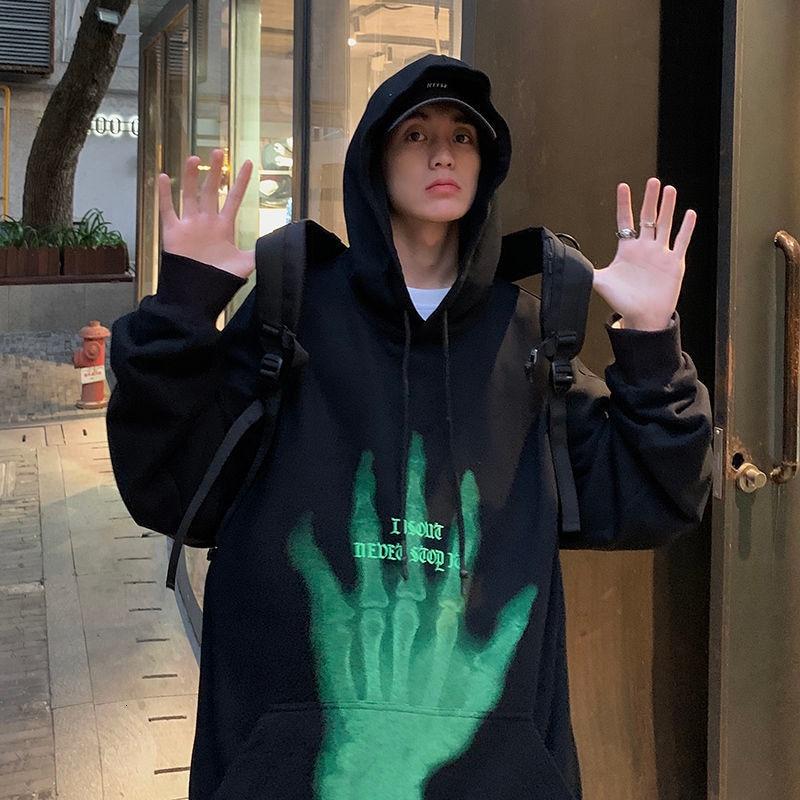 Privathinker جرافيك مطبوعة الرجال هوديس عادية حجم كبير امرأة قمصان سويت شيرت بقلنسوة الكورية الشارع الشهير موضة الذكور البلوفرات