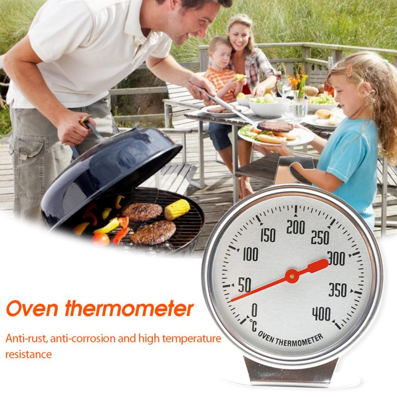 Kitchen Oven Thermometers 0-400℃ Stainless Steel BBQ Cooking Meat Food Temperature Measurement Mini Grill Temperature Gauge
