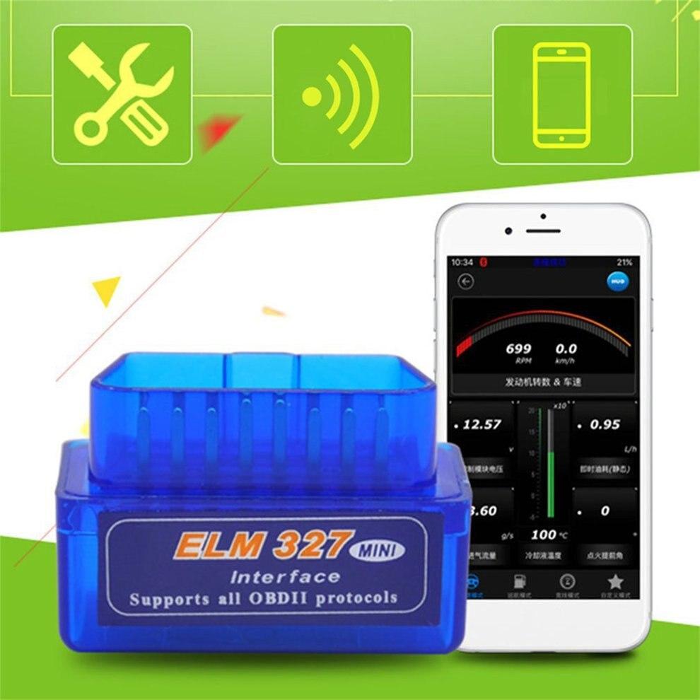 Мини-сканер ELM327 V2.1 OBD2 II, 12 В, Bluetooth, автомобильный диагностический инструмент, сканер интерфейса, считыватель кодов, аксессуары на английском...