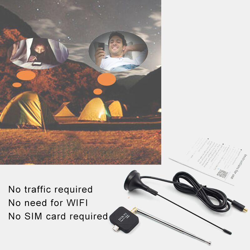 موالف التلفزيون الرقمي استقبال الأقمار الصناعية لوحة اللوحي التلفزيون HDTV دونغل مع USB الصغير لجميع الهواتف النقالة أندرويد