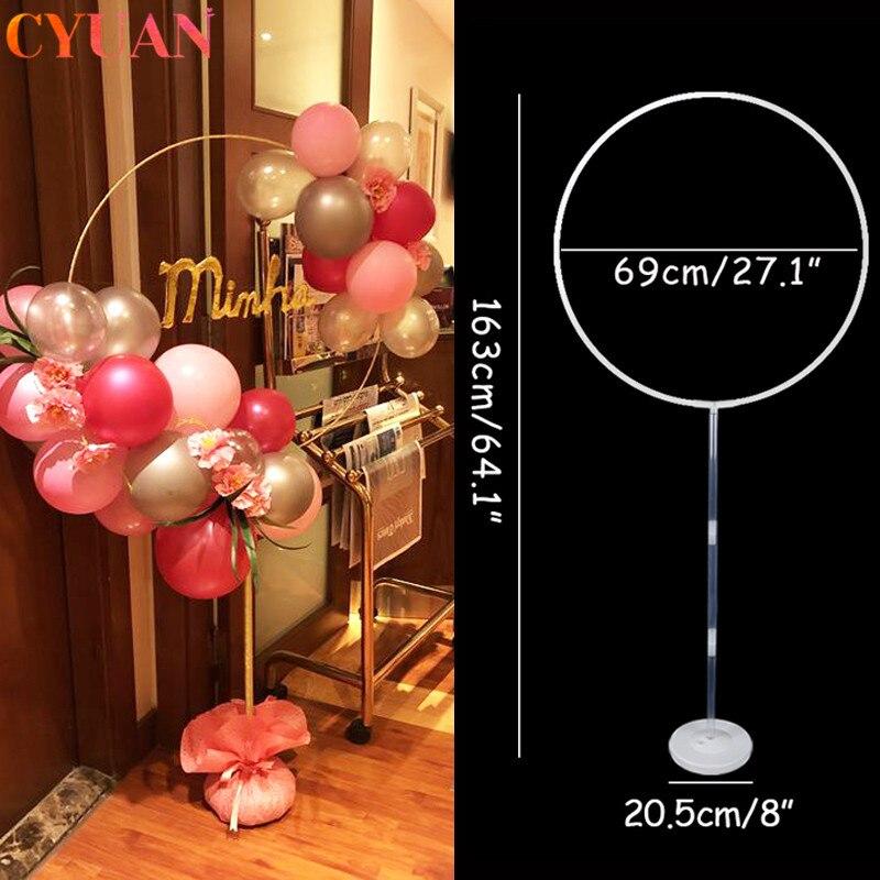 163cm círculo globos soporte globo arco marco anillo de guirnalda titular boda cumpleaños globo para fiesta telón de fondo decoración Baby Shower