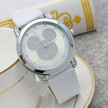 Женские кварцевые часы с Микки Маусом, Мультяшные детские часы с кристаллами и бриллиантами, студенческие аниме-часы для девочек и мальчико...