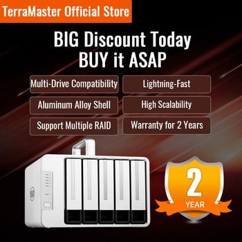 TERRAMASTER D5 Thunderbolt 3 Professional-Grade 5-Bay External Hard Drive Enclosure Hard Disk RAID Storage (Diskless)