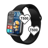 2021 t500 full touch screen smartwatches blue tooth fitness tracker smart watch heart rate monitoring wristwatch for ios android