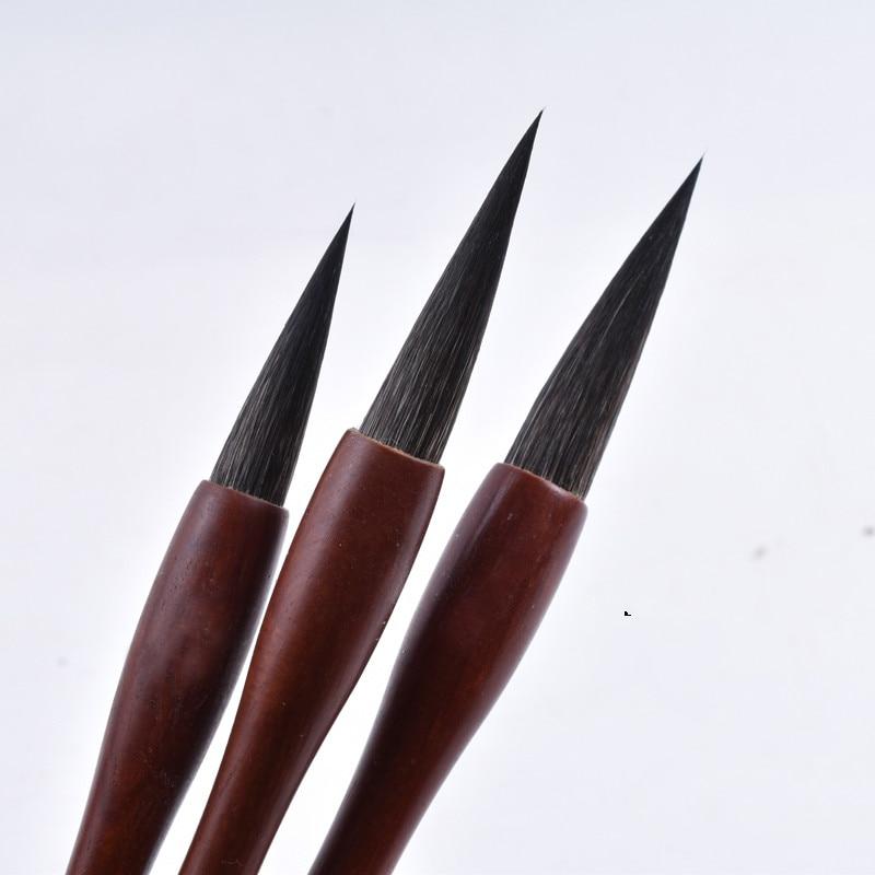 Mouse Whisker Chinese Painting Writing Brush Set Beginner Large Regular Script Calligraphy Handwriting Practice Craft Supply