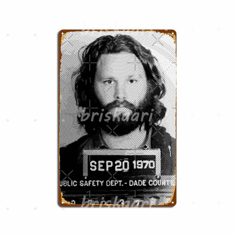 Jim Morrison Mugshot Fan Art By Nicheprintsnyc Metal Signs Wall Pub Wall Customize Wall Plaque Metal Posters