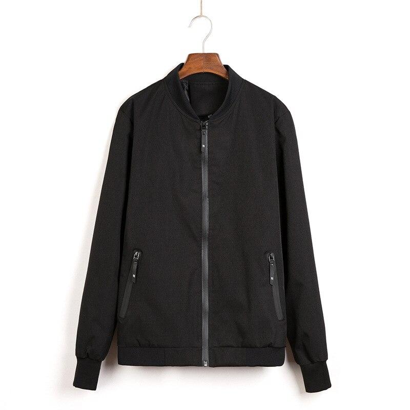 Новая весенняя мужская куртка-бомбер однотонная Модная тонкая куртка мужская повседневная приталенная куртка с воротником-стойкой Мужска...
