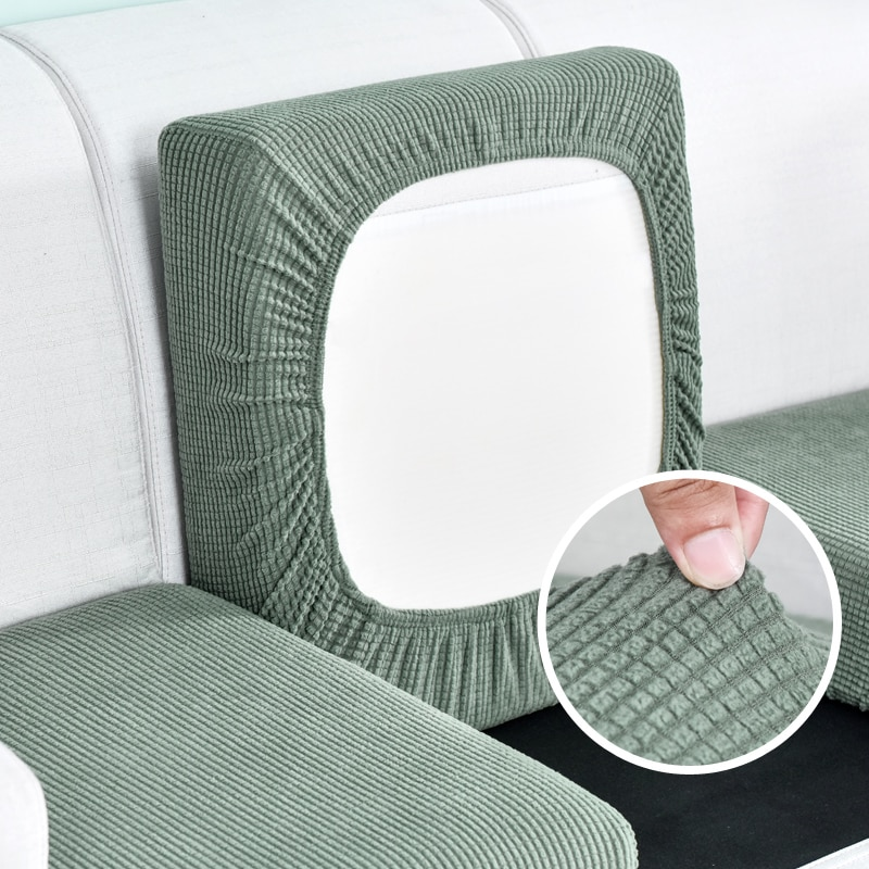 Home Decoration Solid Color Sofa Cushion Cover Elastic Protector Sofa Cover Personality Matching Washable Couch Cover Slipcover