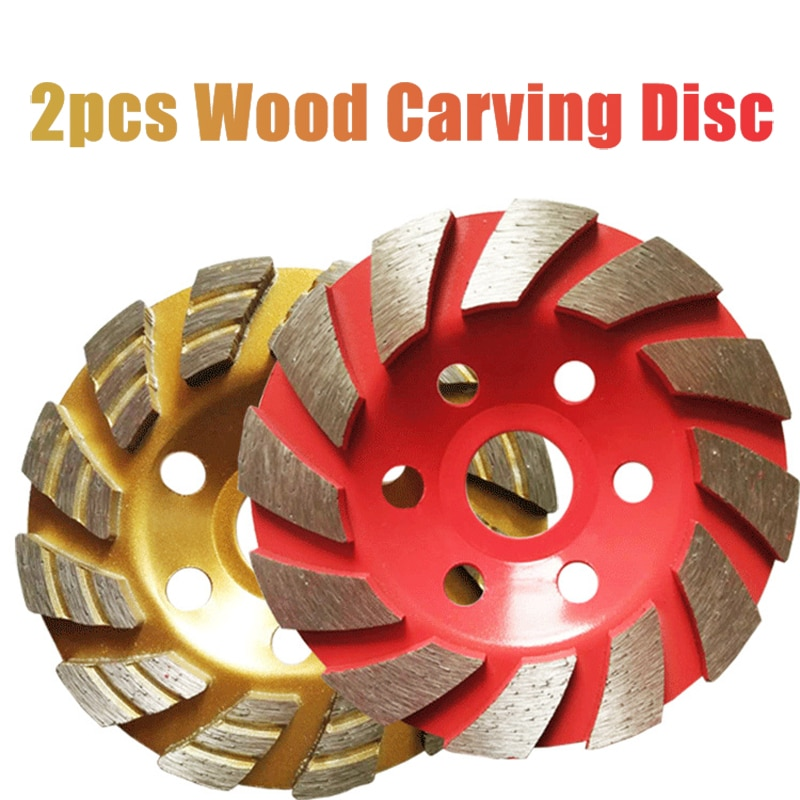 2pc Diamond Grinding Wheel Disc Wood Carving Disc Bowl Shape Grinding Cup Concrete Granite Stone Ceramic Cutting Disc Power Tool