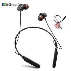BGreen Bluetooth Sport Earphone Sports Headset Stereo Super Bass Sport Neck Band Earphones Support Multi Connection