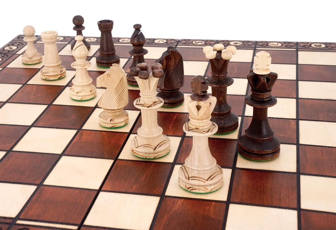 Minimalist Wooden Chess Set Big Folding Board Tournament Wboard Games Board Games Chess Set For Teenagers Chess Set BG50CS