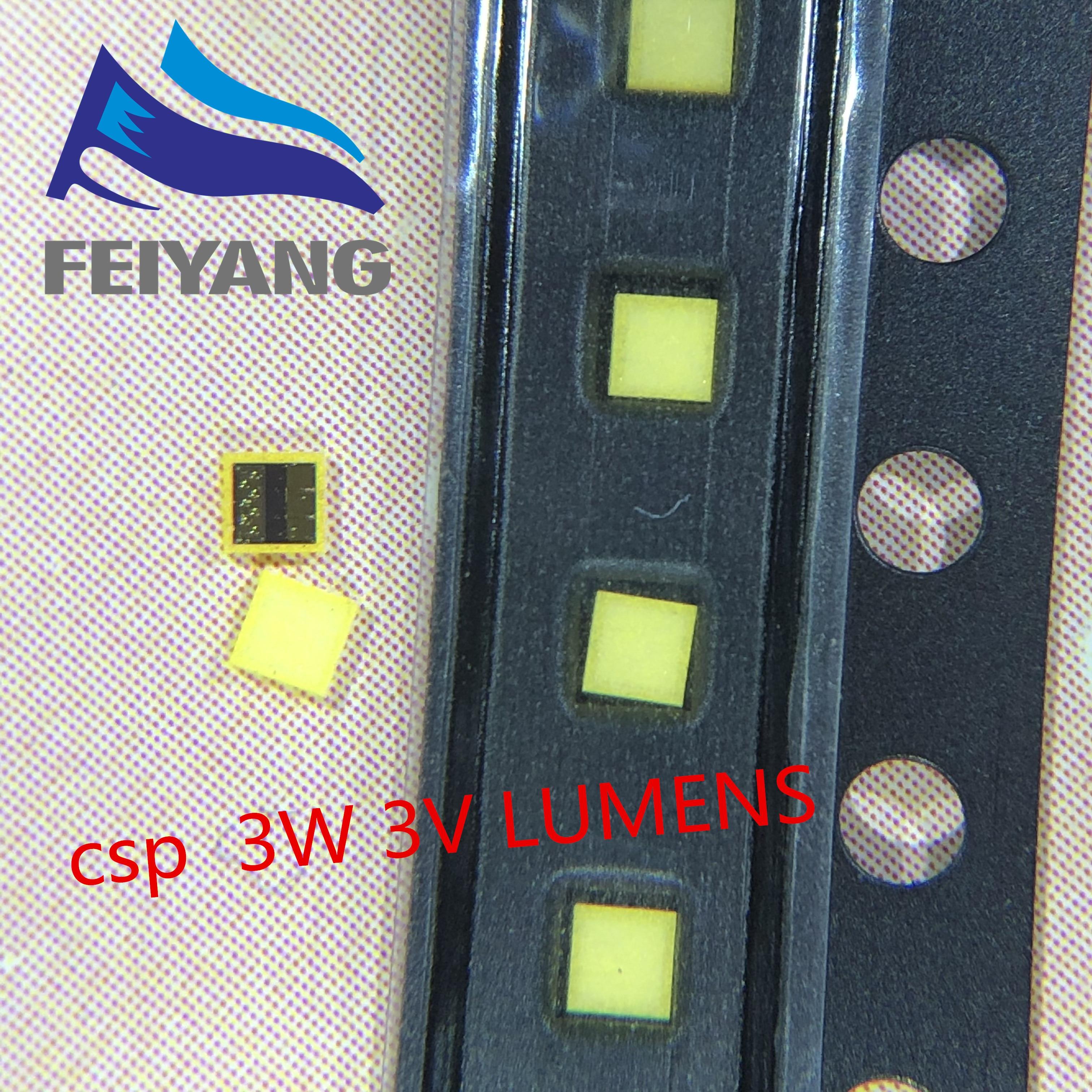 Lúmenes LED escala Chip paquete 3W CSP 1616 3V blanco 190LM iluminación LCD trasera para TV aplicación de TV A142AEAEBP28A 1000 Uds