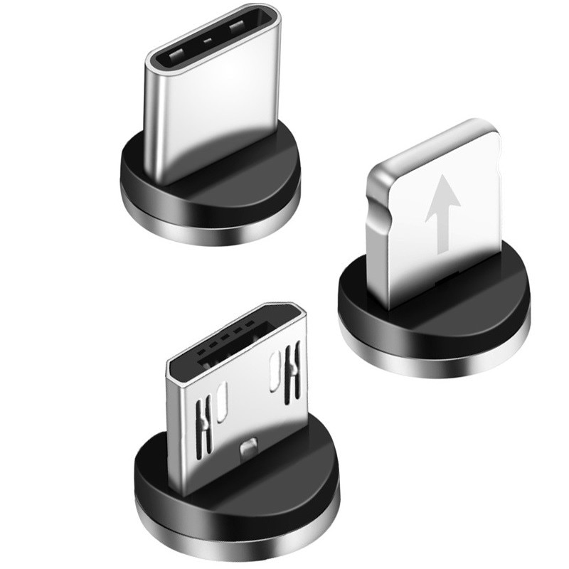 Round Magnetic Cable plug Type C Micro USB C 8 pin Plugs Fast Charging Adapter Microusb Type-C Magne
