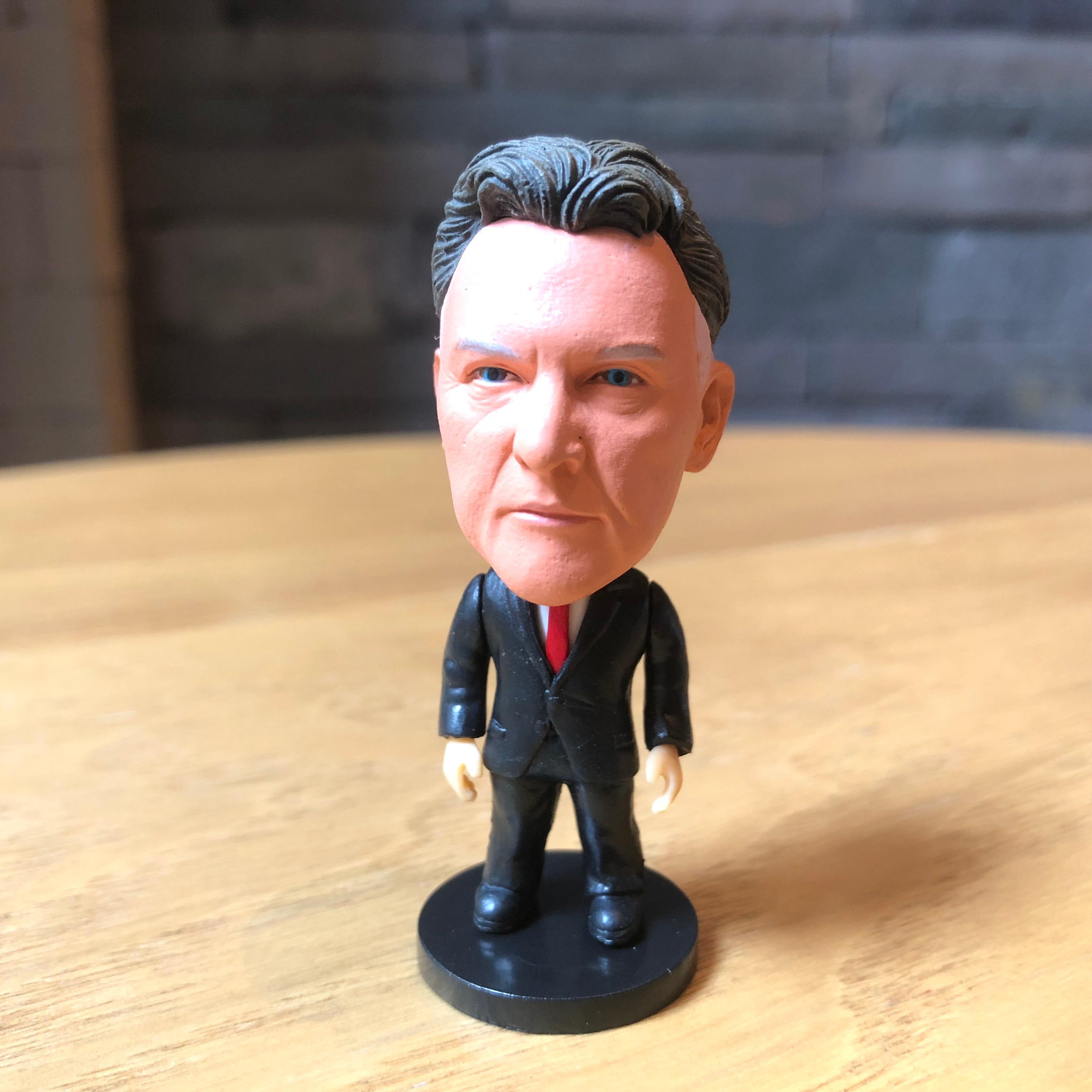 Estrella de fútbol Van Gaal resina muñeca figura de acción 6,5 cm Mini juguete coleccionable regalo