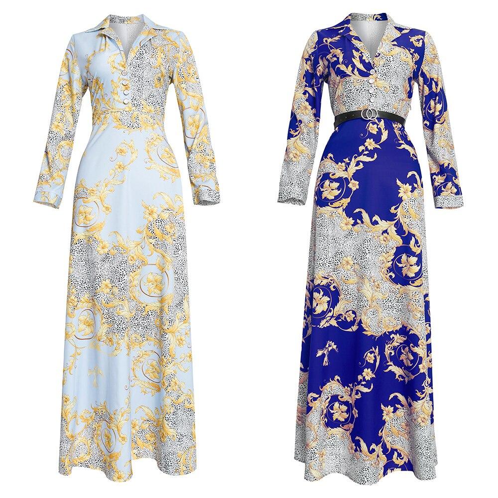 صيف 2021 الأفريقية طباعة ماكسي فستان المرأة dressesقفطان دبي عباية أنقرة Dashiki رداء حفلات السيدات الملابس الزي