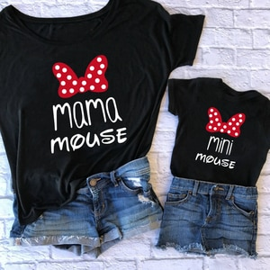 Family Tshirts Fashion mommy and me clothes baby girl clothes MINI and MAMA Fashion Cotton Family Look Boys Mom Mother Clothes