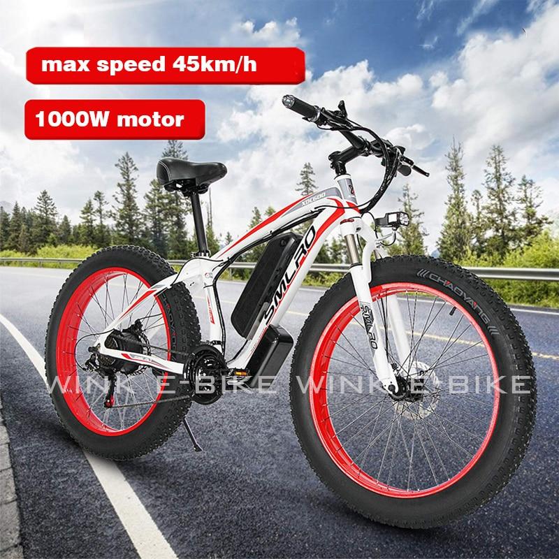 48V 1000W Bicicleta eléctrica 26 pulgadas 4,0 de grasa neumático de Bicicleta...