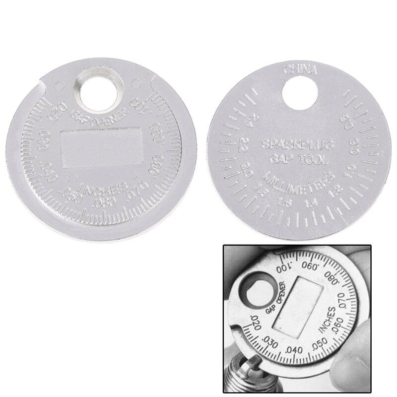 Горячая Распродажа 1 шт., измеритель зазора свечи зажигания, измерительный инструмент, монетный Тип 0,6-2,4 мм, измерительный Калибр и различны...