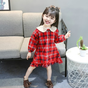 CNUM Autumn Newborn infant Baby Dress Cotton Toddler Dress  Party Dresses for Girls Fashion Baby Girl Clothes