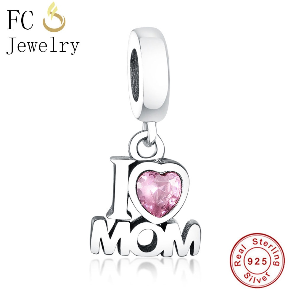 FC Jewelry Fit Original Pandora Charms Bracelet Bangle 925 Silver Letter Kralen Love Mom Beads Pendant DIY Making Gifts Berloque