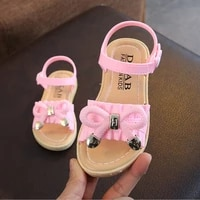 summer new childrens korean version of the princess shoes in the big childrens shoes little girl baby sandals slippers