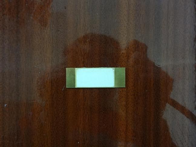 Film piézoélectrique bimorphe parallèle, céramique 30mm x 10mm x 0.3mm; Substrat 50mm x 10mm x 0.3mm