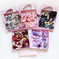 Fashion 18Pcs/Set Cute Girl Baby Pin Baby Hairband Hair Ring Gift Elegant Packaging Hair Accessory