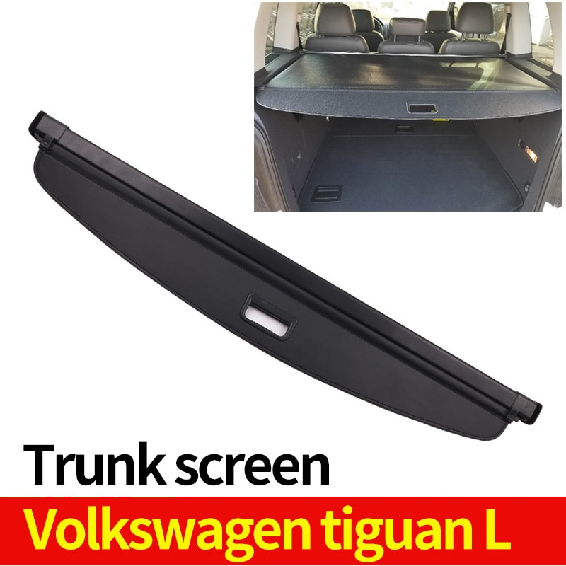 car rear trunk security shield cargo cover for toyota land cruiser prado 120 2003 2009 high qualit trunk shade security cover Cargo Cover Partition Curtain Screen Shade Trunk Security Shield Rear Auto Accessories Black For Volkswagen Tiguan L 2019-2020