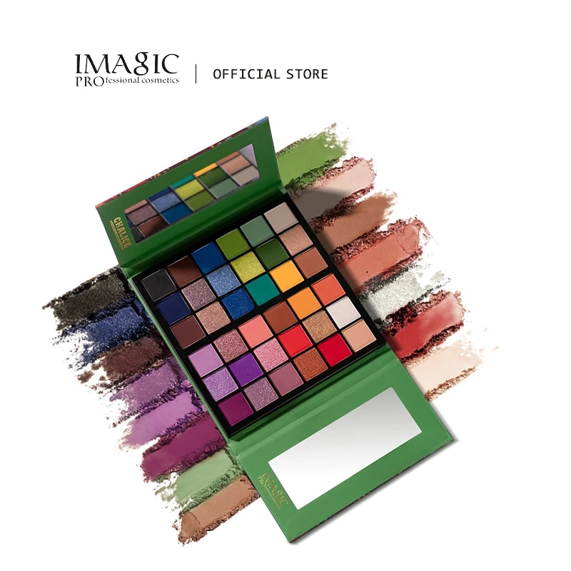 IMAGIC 36 colors makeup eyeshadow palette matte pearlescent glitter eyeshadow palette metallic gloss