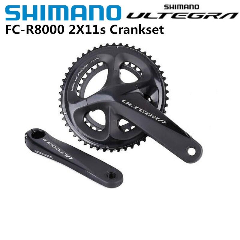 Shimano Ultegra R8000 Crankset 11 22 سرعة الدراجة الطريق دراجة Crankset 170 مللي متر 172.5 مللي متر 175 مللي متر 50-34T 52-36T 53-39T BBR60 BB72-41B