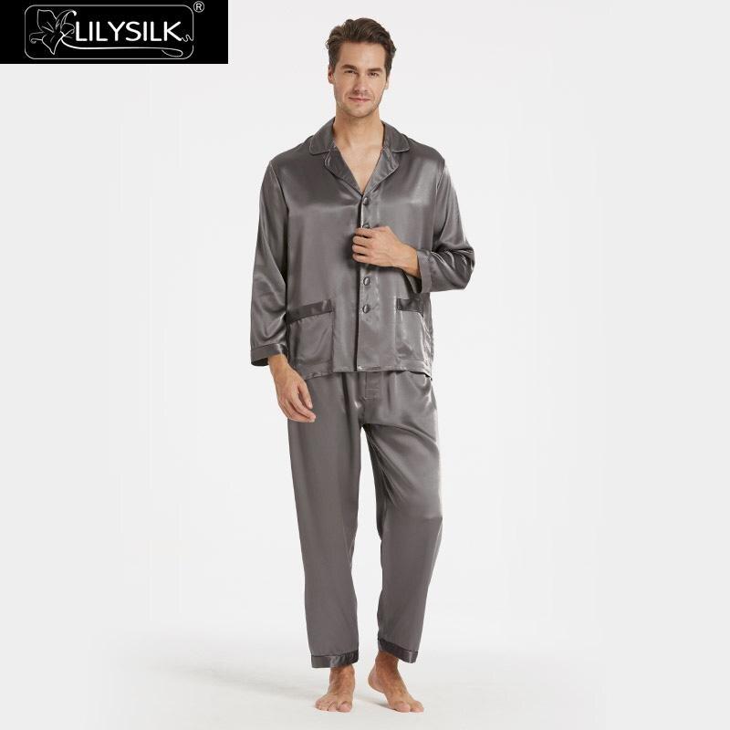 LilySilk Пижама мужская костюм белье пижамный комплект домашняя одежда для мужчин