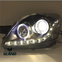 vland factory accessories for car lights for yarisvios headlight 2008 2013 xenon head lamp with angel eyes drl led light bar