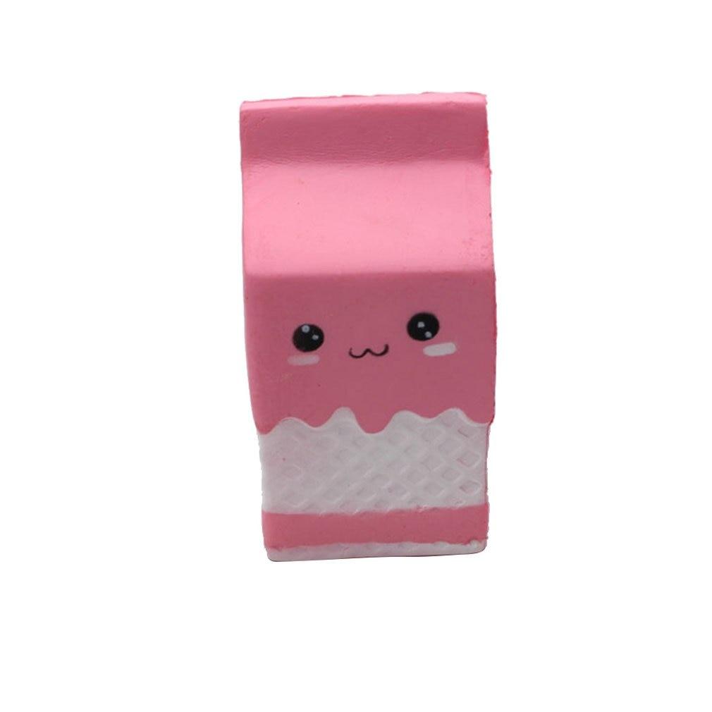 Caja de cartón de leche de rebote lento antiestrés, caja de cartón de piel sintética de rebote lento, caja de leche simulada