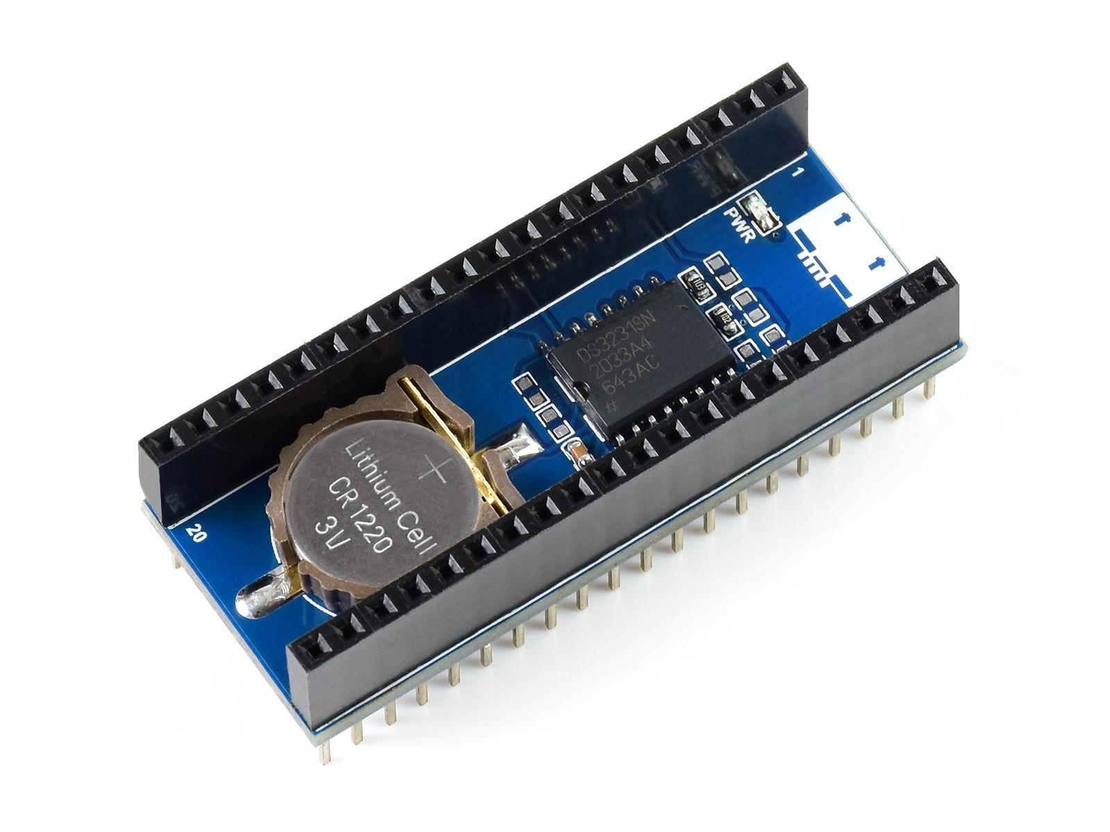 Модуль Waveshare Precision RTC для Raspberry Pi Pico, встроенный чип DS3231