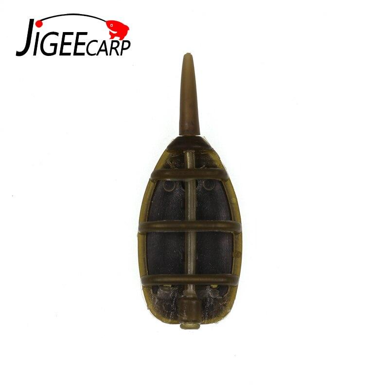 JIGEECARP 1/2sets 15-40g alimentador de carpas para Pesca de plomo Pesca cebo lanzador carpa gruesa cebador de método en línea de Pesca accesorio