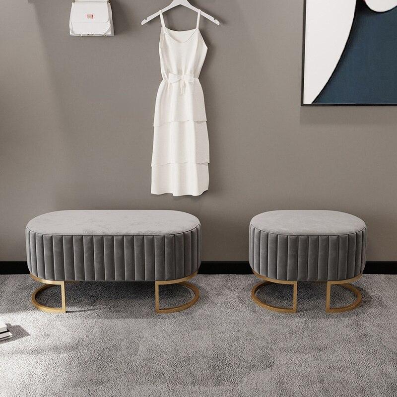 Скандинавская мебель для гостиной, сменные стулья для обуви, домашняя мебель для прихожей, небольшой низкий стул, простой стул для спальни, ...