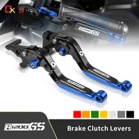motorcycle aluminum adjustable extendable folding brake clutch levers for bmw r1200gs 2004 2012 r1200gs adventure 2006 2013