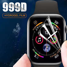 3PCS Full Cover Hydrogel Film on The For iWatch 4 5 6 SE 40MM 44MM Screen Protector For Apple Watch 3 2 1 38MM 42MM Not Glass