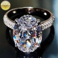 18k au750 white gold women wedding party engagement ring 1 2 3 4 5 carat oval moissanite diamond ring classic trendy elegant
