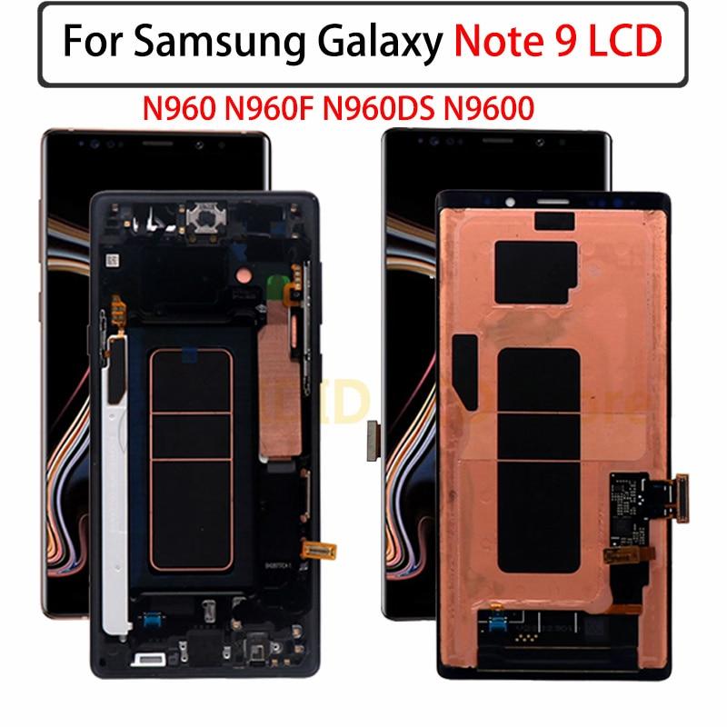شاشة Lcd تعمل باللمس مع شاسيه ، لجهاز Samsung Galaxy Note 9 N960 N960F N960DS N9600